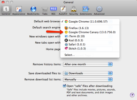 how to make google chrome incognito my default browser mac